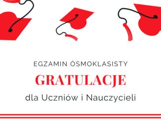 Gratulacje dla uczniów i nauczycieli
