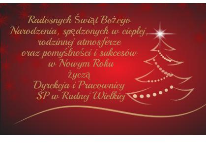 Życzenie z okazji Świąt Bożego Narodzenia