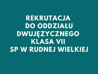 Rekrutacja do odziału dwujęzycznego