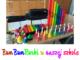 BumBumRurki w naszej szkole. Naz zdjęciu kolorowy zestaw dzwonków i rurek