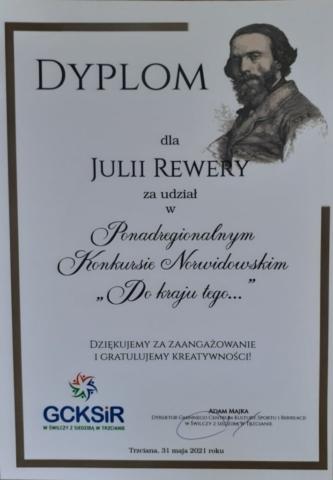 Sukcesyw konkursie norwidowskim