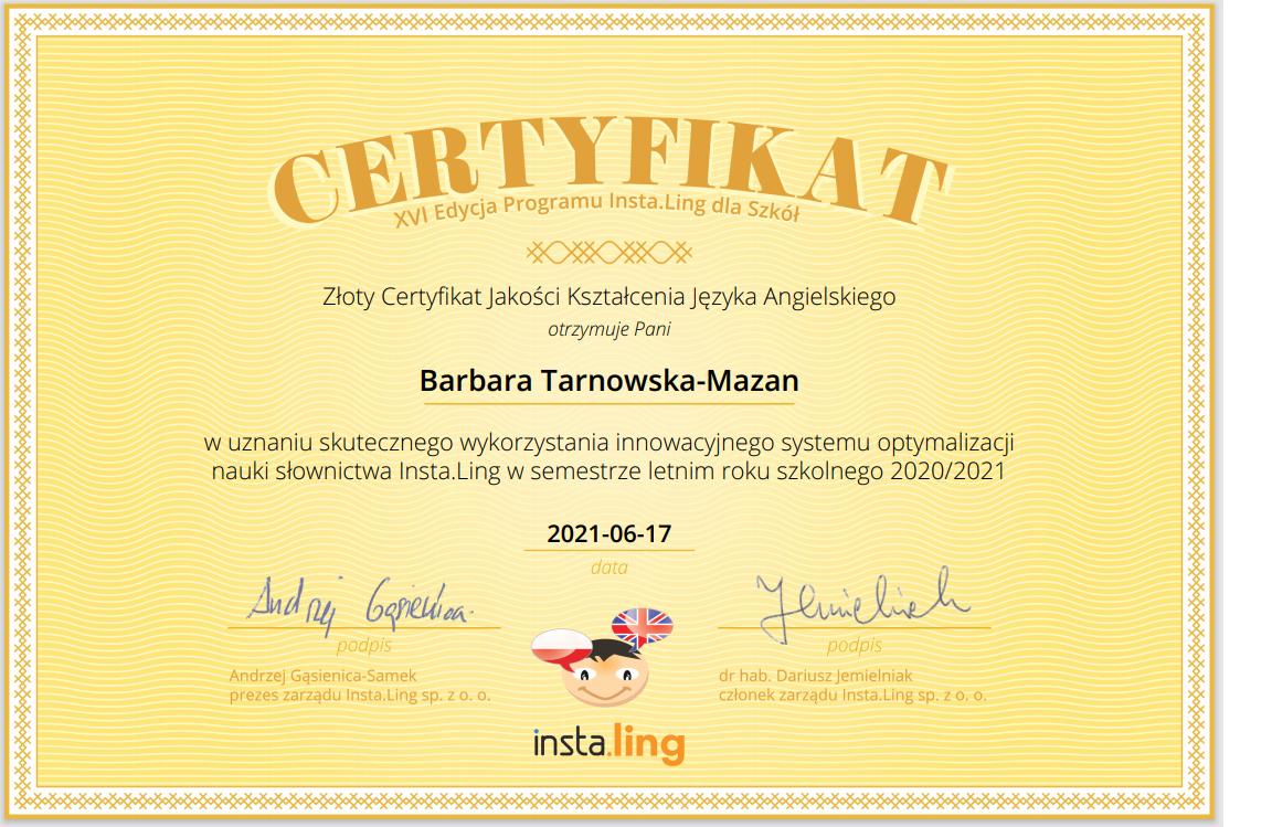 Instaling certyfikat
